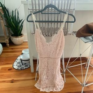 Just me pink lace dress